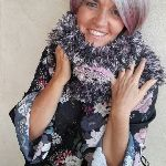 Mini Snood Gris et Rose