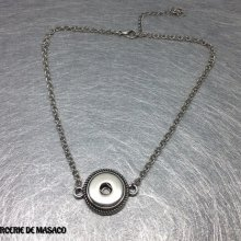 Collier support pour bouton pression interchangeable chunk 18mm