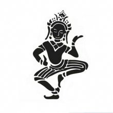 Adhesif Sticker danseuse / tai / asiatique / zen 30x18 cm