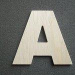 Lettre bois modèle ARIAL BLACK