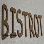 Lettre en bois decorative BISTROT