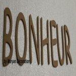 Lettre en bois decorative BONHEUR