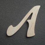 Lettre bois modèle FUNNY