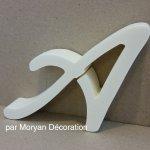 Lettre en polystyrène LOMBRIZ