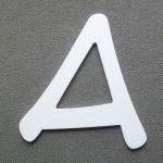 Lettre plastique PVC ANIME ACE