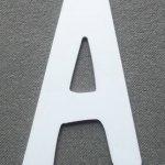 Lettre plastique PVC DOM CASUAL