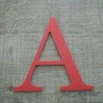 Lettre plastique PVC couleur LOFT