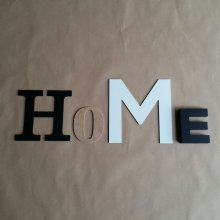Lettres decoratives murales HOME