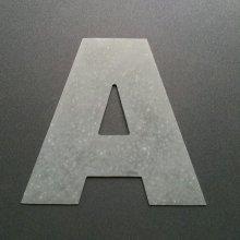 Lettre enseigne zinc ARIAL BLACK