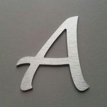 Lettre metal brossé LUCIDA HANDWRITING
