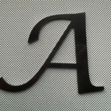 Lettre metal couleur LUCIDA CALLIGRAPHY