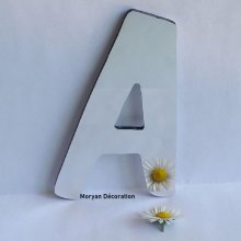 Lettre miroir murale decorative DOM CASUAL