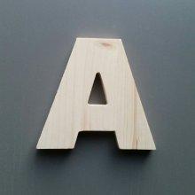 Lettre en bois épicéa ARIAL BLACK