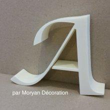 Lettre en polystyrène LUCIDA CALLIGRAPHY