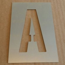 Pochoir deco alphabet , lettre metal ALTERNATE