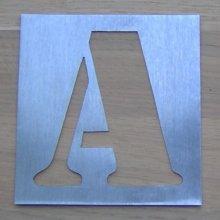 Pochoir métal zinc modèle ARMY