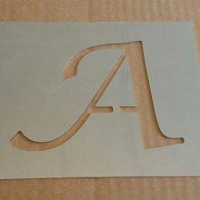 Pochoir lettre métal zinc modèle LUCIDA CALLIGRAPHY