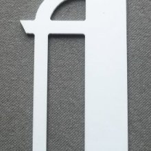 Lettre plastique PVC BETTY  NOIR