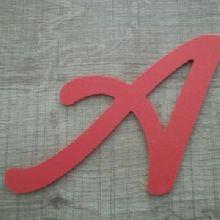 Lettre plastique PVC couleur LOMBRIZ