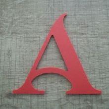 Lettre plastique PVC couleur SHANGRI LA