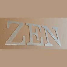 Lettre decorative en zinc ZEN 20 cm