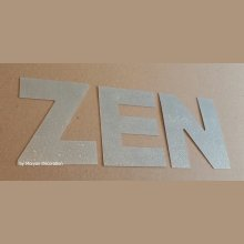 Lettre decorative en zinc ZEN 30 cm
