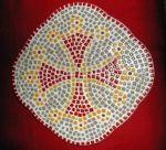 Kit mosaïque 'Deco murale Croix occitane'