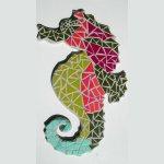 DIY KIT de création mosaïque ' décoration hippocampe'
