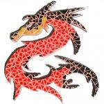 Mosaïque prédécoupée 'Dragon' Kit D'clic Mosaïc
