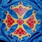 Mosaïque en kit décoration croix Occitane rouge