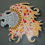 DIY Mosaïque en kit ' Lion rugissant '