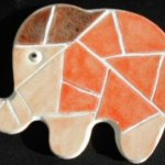 Kit mosaïque/puzzle enfant 'Eléphanteau'