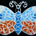 Diy Mosaïque prédécoupée Papillon 'Papiblue' Kit enfant