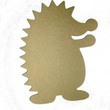 Hérisson rigolo. Support à décorer en bois médium de 15cm