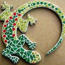 Fiche créative 'Lézard vert '
