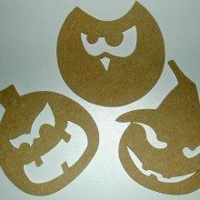 Personnages d' Halloween à décorer ' 3 Citrouilles en folie'