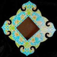 DIY KIT Mosaïque 'Miroir baroque' à décorer