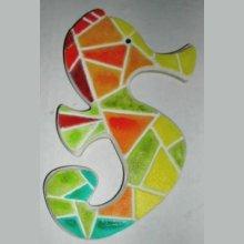 'Hippo Arlequin' kit puzzle/mosaïque