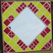 DIY Kit mosaïque d'initiation 'Miroir framboise'