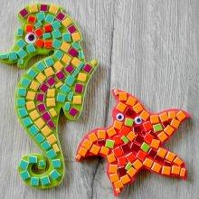 DIY Kit ludique mosaïque enfant maternelle ' Hippipip et Starletta '