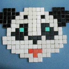 kit 'tête de PANDA' 1ère mosaïque
