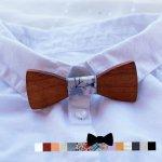 MINI noeud papillon enfant en bois à personnaliser