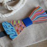 Noeud papillon Poisson en bois peint