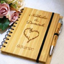 Livre d'or en bois pour mariage ou cérémonie