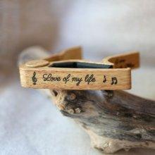 Capodastre personnalisé en aluminium clair gravé accessoire guitare