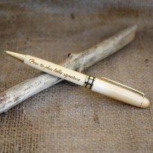 Stylo bois clair gravé à personnaliser