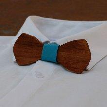 Noeud papillon homme en bois français  'le rablé' de petite taille et personnalisable