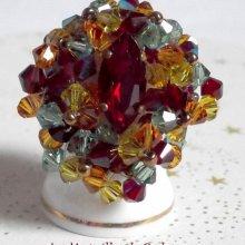 Bague cristal 'Iroise' abondance de toupies