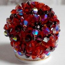 Bague cristal 'Topaz', riche en toupies de cristal