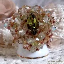 Bague cristal 'Véronèse' transparente et lumineuse